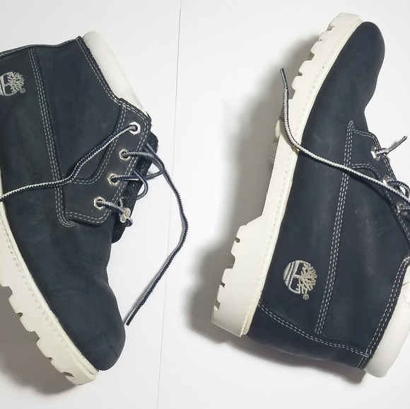 Timberland Shoes - TIMBERLAND Navy Blue Waterproof Leather Boots